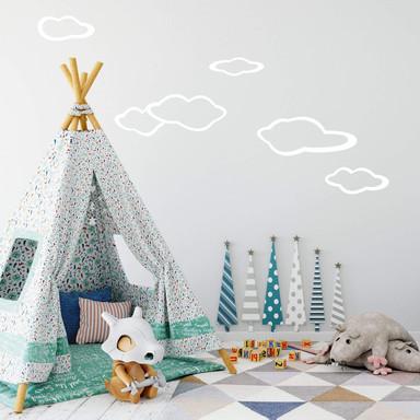 Wandtattoo Wolken-Set 3
