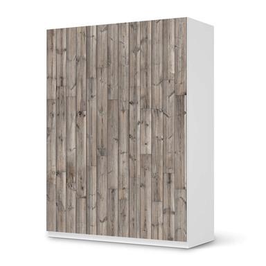 Folie IKEA Pax Schrank 201cm Höhe - 3 Türen - Dark washed