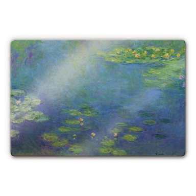 Glasbild Monet - Seerosenteich