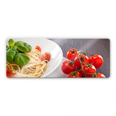 Glasbild Pasta Italiano - Panorama