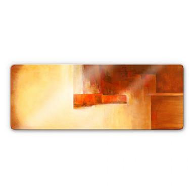 Glasbild Schüssler - Orange-Brown Balance