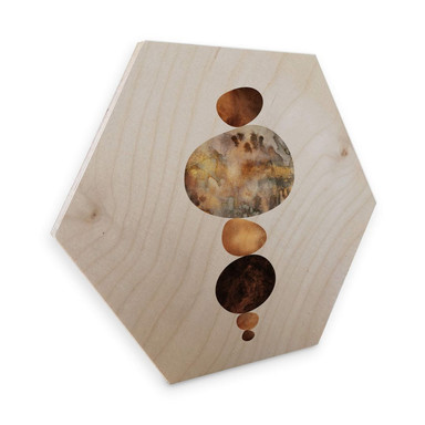 Hexagon - Holz Birke-Furnier Fredriksson - Balance