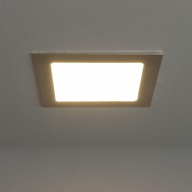 LED Panel 21W 1200lm 3000K in Nickel-satiniert 170x170mm eckig
