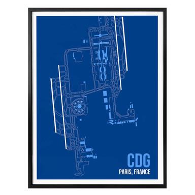Poster 08Left - CDG Grundriss Paris