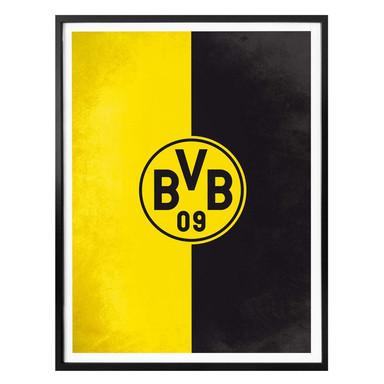 Poster - BVB Logo Gelb Schwarz
