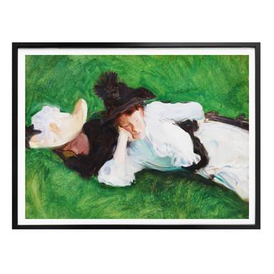Poster Sargent - Zwei Mädchen auf dem Rasen