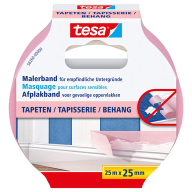 tesa® Malerband Tapeten 25m x 25mm - Bild 1