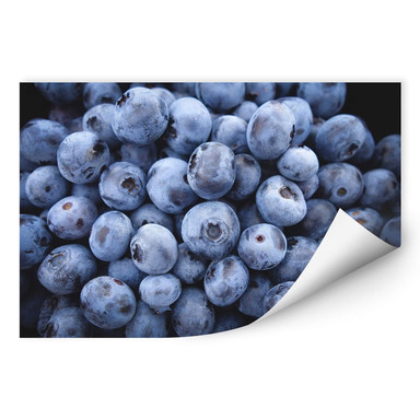 Wallprint Blaubeeren