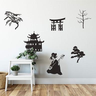 Wandtattoo Asian Life