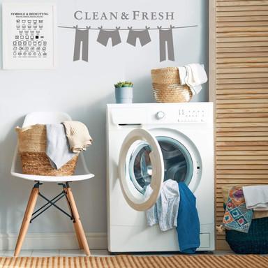 Wandtattoo Clean and fresh