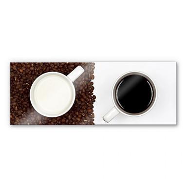 Acrylglasbild Lavsen - White Espresso - Panorama