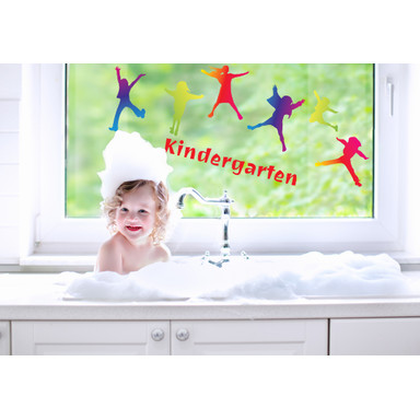 Fenstersticker Kinderparty