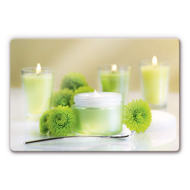 Glasbild Candle Lemon