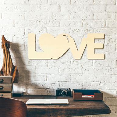 Holzbuchstaben Love