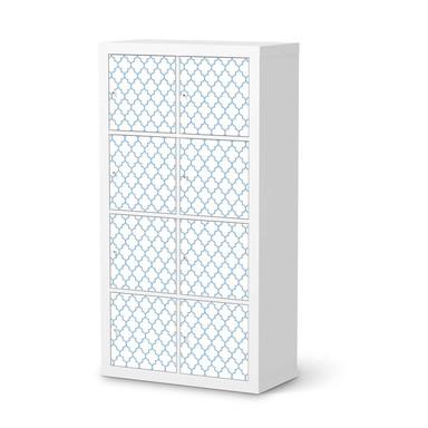 Klebefolie IKEA Expedit Regal 8 Türen - Retro Pattern - Blau- Bild 1