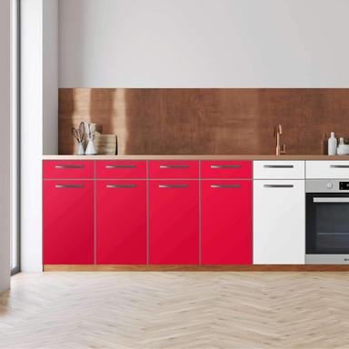 Küchenfolie - Unterschrank 160cm Breite - Rot Light