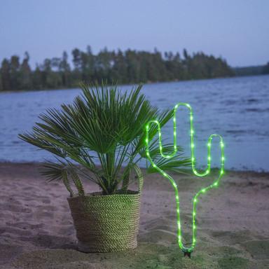 LED Deko Kaktus Tuby in Grün Batteriebetrieben