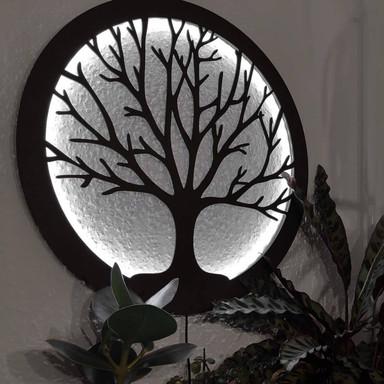 LED-Leuchtdeko aus MDF - Baum des Lebens
