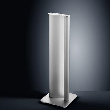 LED Standleuchte Kurvo in nickel-matt und chrom dimmbar 545x180x180 mm