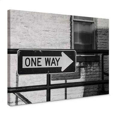 Leinwandbild Street Sign One way