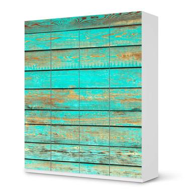 Möbelfolie IKEA Pax Schrank 236cm Höhe - 4 Türen - Wooden Aqua