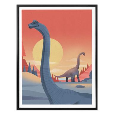 Poster Braun - Brachiosaurus