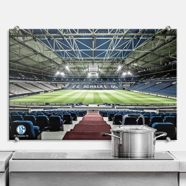 Spritzschutz - Schalke 04 - Arena Tribüne