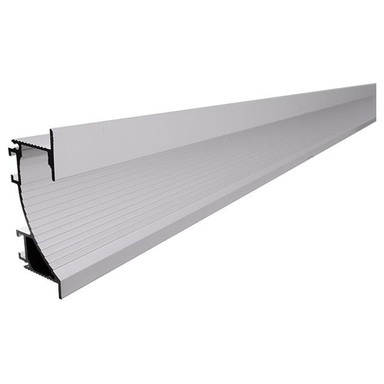 Trockenbau-Profil, Wandvoute EL-02-12 für 14mm LED Stripes, Silber-matt, eloxiert, 1000 mm