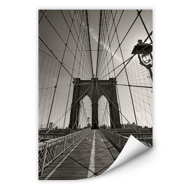 Wallprint Brooklyn Bridge Perspektive