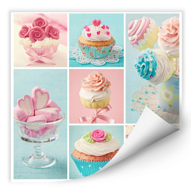 Wallprint Cupcake Collage