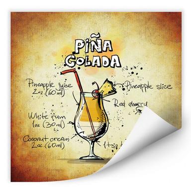 Wallprint Pina Colada - Rezept