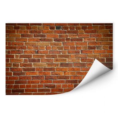 Wallprint Ziegelsteinmauer