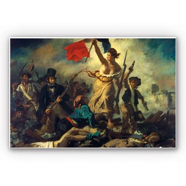 Wandbild Delacroix - Die Freiheit führt das Volk