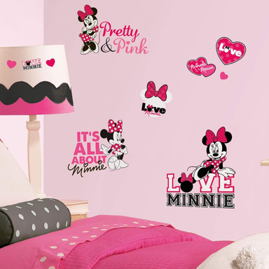 Wandsticker-Set Disney Minnie Mouse liebt pink - Bild 1