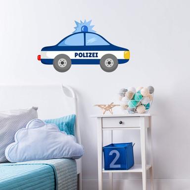 Wandtattoo Polizei-Auto 02