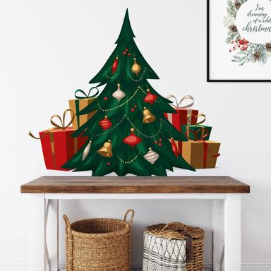 Wandtattoo Weihnachtsbaum (vintage)