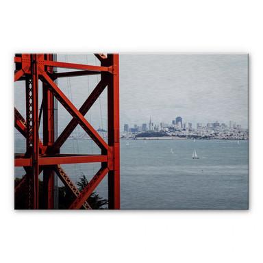 Alu Dibond-Silbereffekt - Vor den Toren von San Francisco