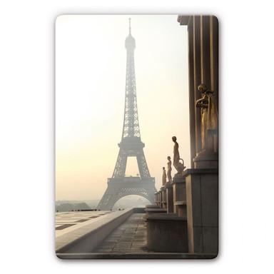 Glasbild Bonjour Paris