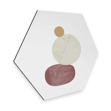 Hexagon - Alu-Dibond Nouveauprints - Pebbles 2