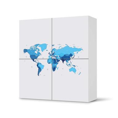 Klebefolie IKEA Besta Schrank 4 Türen - Politische Weltkarte- Bild 1