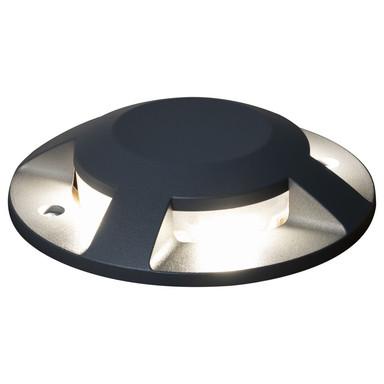 LED Terrassen- und Bodenaufbaustrahler in Anthrazit 4x 3W 980lm IP65