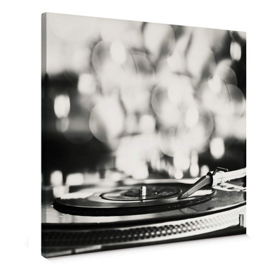 Leinwandbild Vinyl Record on Turntables