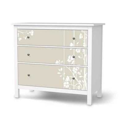 Möbelfolie IKEA Hemnes Kommode 3 Schubladen - Florals Plain 3