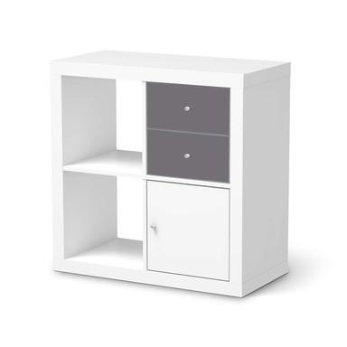 Möbelfolie IKEA Kallax Regal Schubladen - Grau Light