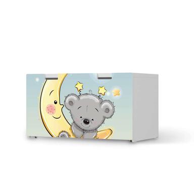 Möbelfolie IKEA Stuva / Malad Banktruhe - Teddy und Mond
