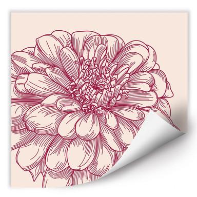 Wallprint Blüte Illustration