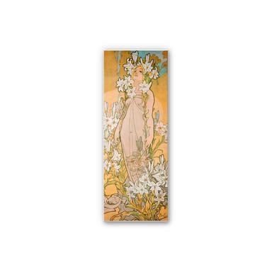 Wandbild Mucha - Die Lilie