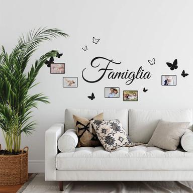 Wandtattoo Famiglia mit Platz für Fotos
