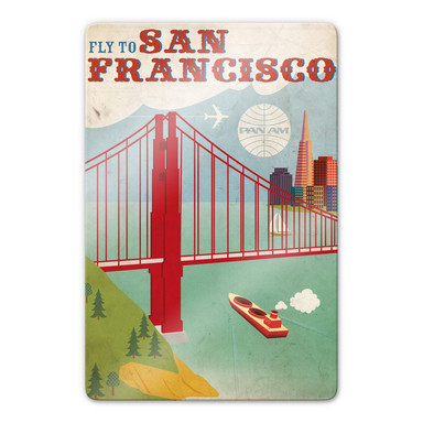 Glasbild PAN AM - Fly to San Francisco