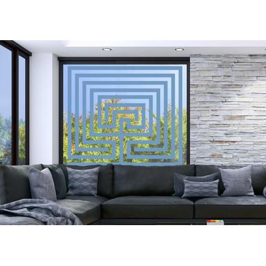 Glasdekor Steinlabyrinth